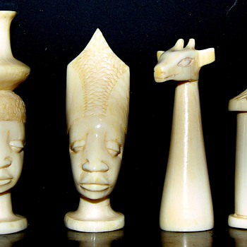 Makonde Ivory & Rosewood Chess Set - Games