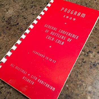 1939 Coca Cola Conferance Program