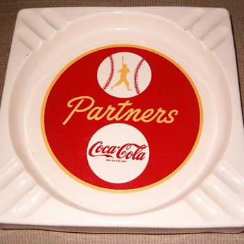 Coca Cola Baseball ashtray - Coca-Cola