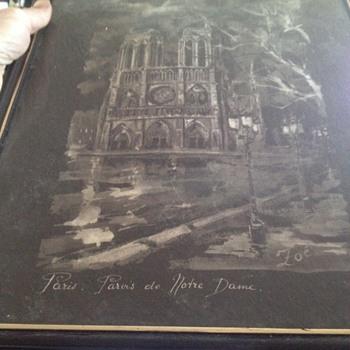 Paris Notre Dame painting