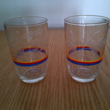 Vintage Etched Drinking Glasses