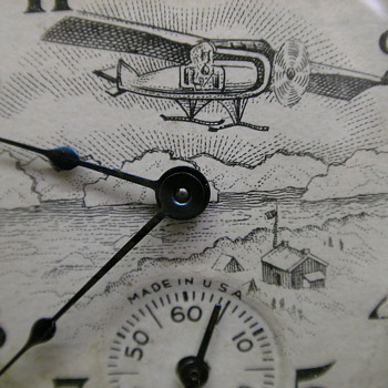 1928 Admiral Byrd Pocket Watch By Ingraham - Pocket Watches