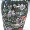Asian vase with rare double rings 6 character mark on base