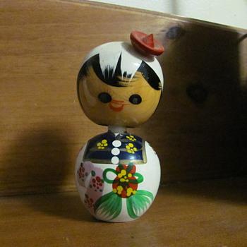 Kokeshi hand painted