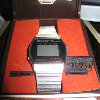 Vintage Bulova Quartz Multi Function Digital Watch - Wristwatches
