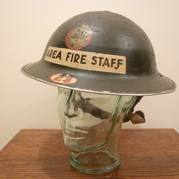 British WWII Senior Fire Officer steel helmet. - Military and Wartime