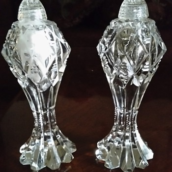 Vintage Crystal Salt and Pepper Shakers  - Kitchen