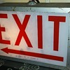 old ALKCO (?) lighted EXIT sign