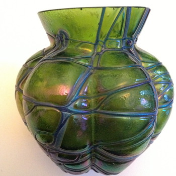 Kralik - Koenig Threaded Vase - Art Glass