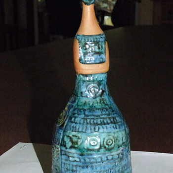 Ceramic and Blue/Green Glaze Mystery Lady