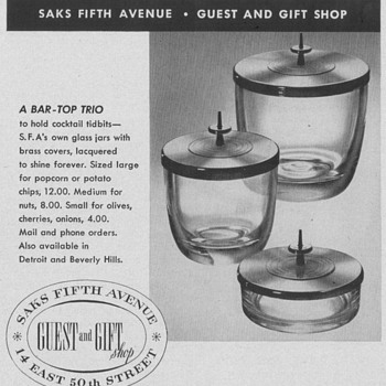 1953/54 Saks Fifth Avenue Advertisements - Advertising