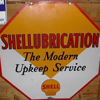 SHELLUBRICATION SIGN - Signs