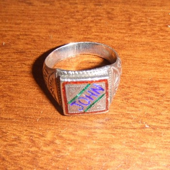 WW2 Souvenir ring from CBI theater - Fine Jewelry