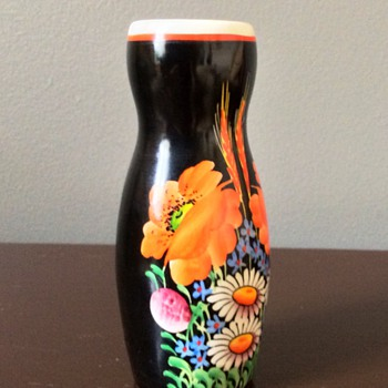 Beautiful bright colored little vase  - Art Pottery