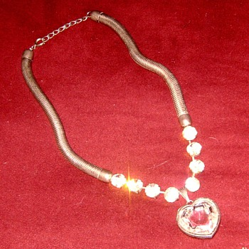 "I call it ""The Tin mans heart"" - Costume Jewelry"