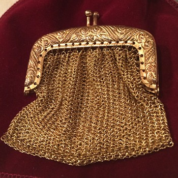 Antique Gold Mesh Purse