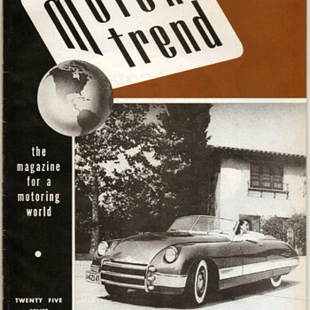 1949 - Motor Trend Magazine - First Issue (1999 Reprint) - Paper