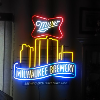 Miller Milwaukee Brewery Neon Sign