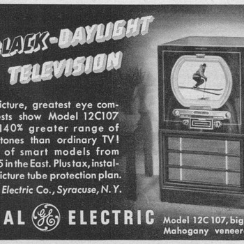 1950 - General Electric Model 12C107 Television Advertisement - Advertising