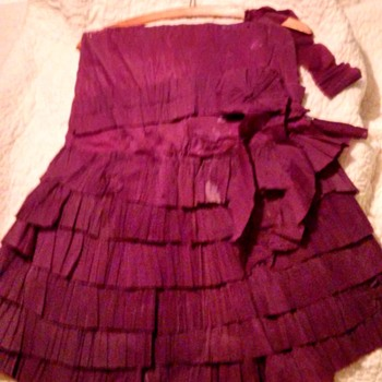 child's Crepe Paper Dress 1920s