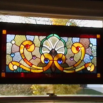 1890's Stained Glass Window