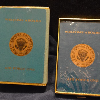 Playing cards from Air Force One