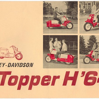 1964 Harley Davidson Topper H Scooter Brochure - Advertising