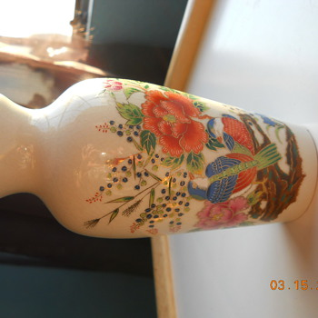 Intricate designs hand painted chinese vase - Asian