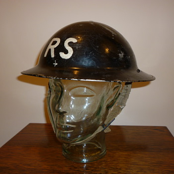 British WWII Civil Defence steel helmet 1939 - Military and Wartime