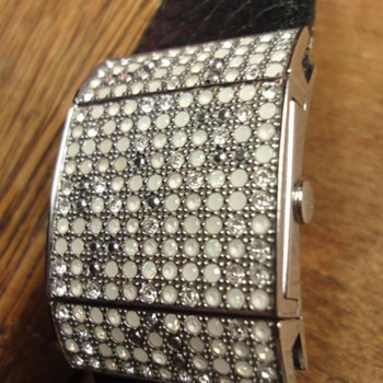 Swarovski watch with crystals - Costume Jewelry