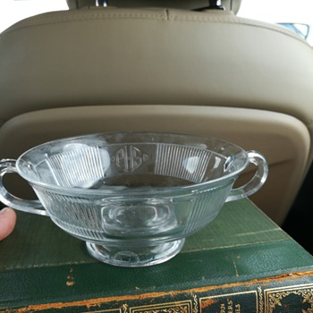 Heisey #1170 Pleat & Panel c1925; footed cream soup bowls.  - Glassware