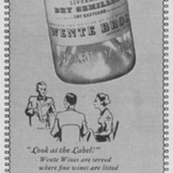 1950 Wente Bros. Wine Advertisements - Advertising
