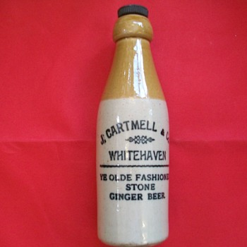 Ginger Beer Stoneware Bottle J. Cartmell Whitehaven (UK)