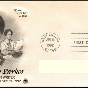 "1992 - ""Dorothy Parker"" Stamp First Day Cover"