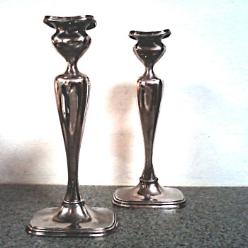 "Rogers Bros. Silver Plated Hollow Ware / ""Art Nouveau""  Style Candle Sticks / Circa early 1900's"