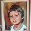 Oil painting of my 4 years old son (painted 1979)