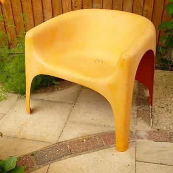 my 1970s fibreglass garden chair - Furniture