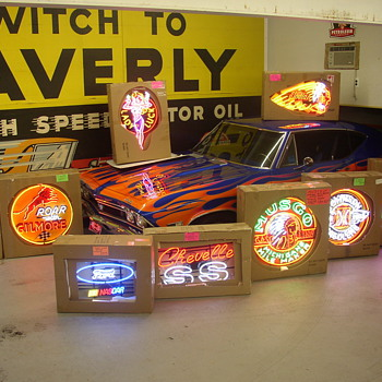 vintage advertsing neon signs - Signs