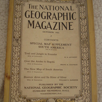 THE NATIONAL GEOGRAPHIC MAGAZINES