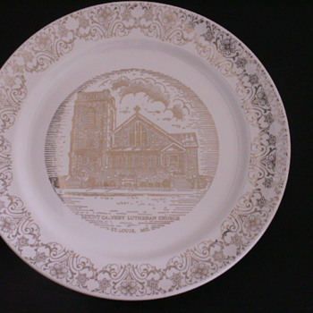 Church Plate St. Louis, MO. - China and Dinnerware