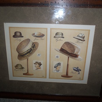 Vintage hats Lithograph?
