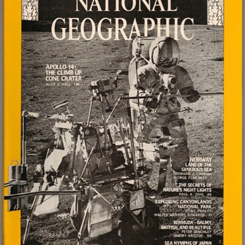 1971 - National Geographic - Apollo 14 - Paper