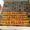 Metal door push cigar sign La Palina Cigar