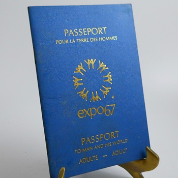 Montreal Expo 1967 Passport - Paper