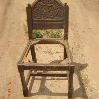 English? Chair with Hand Carved Back - Have 4