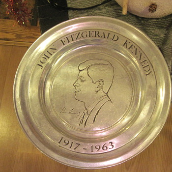 jfk plate from his estate - Signs