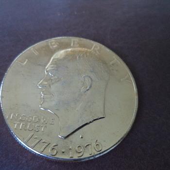 """1777-1976 d Eisenhower """"Ike"""" bicentennial dollar"""