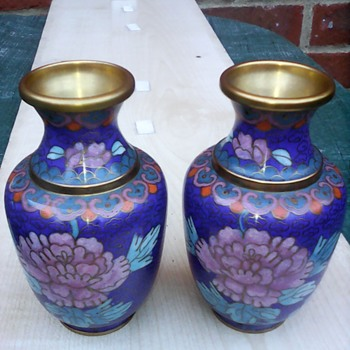 My pair of cloisonne vases