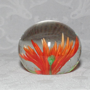 Small Flower Paperweight - Art Glass