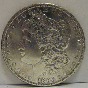 1896 US MORGAN SILVER DOLLAR